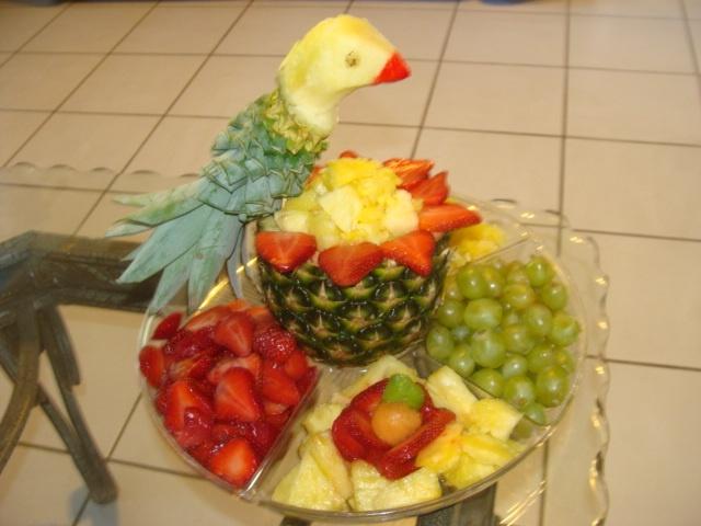 Bird fruit platter