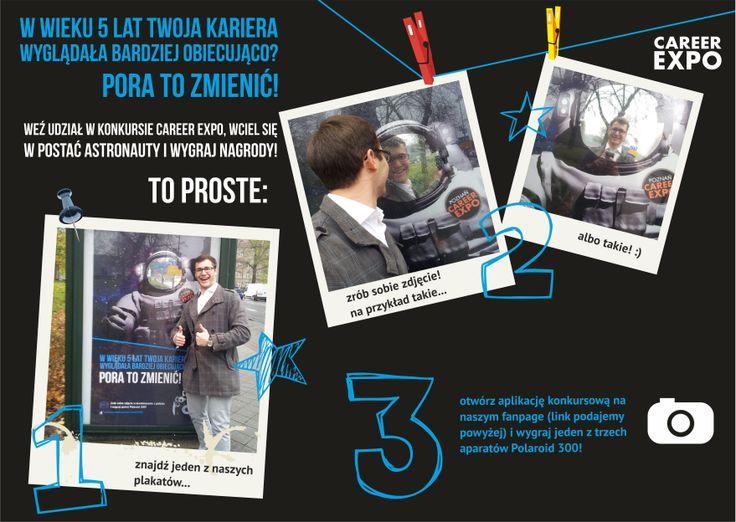 """""""instrukcja obsługi"""" do plakatu z astronautą Career EXPO :)"""