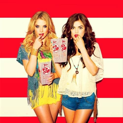 Ashley Benson & Lucy Hale of Pretty Little Liats <3 I Love it! <3