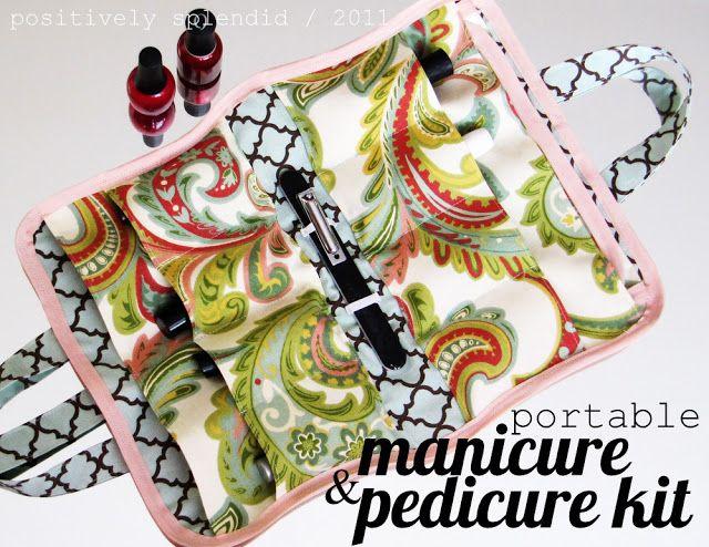 Portable Mani/Pedi Kit - Free Tutorial by Positively Splendid