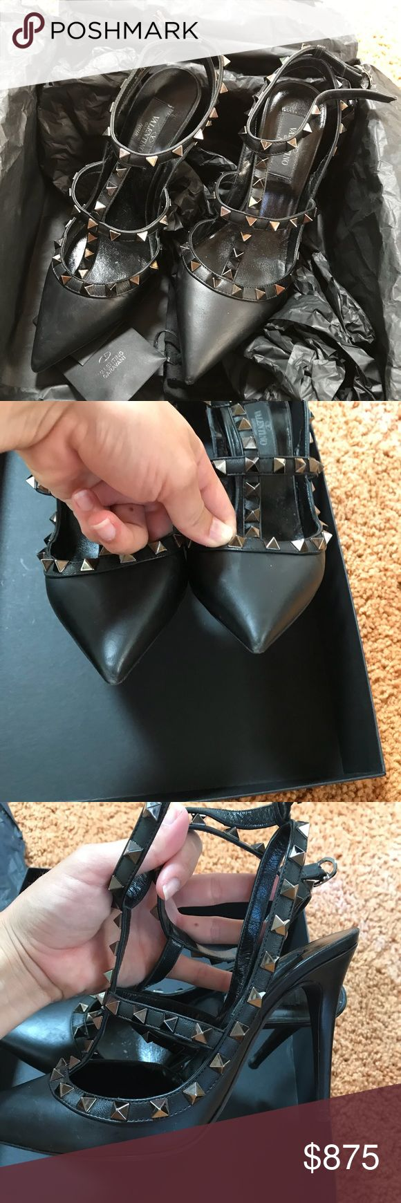 Valentino studded heel In very good used condition. These are very very lightly worn as photos show. No trades. Please make me an offer! Valentino Shoes Heels