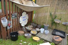 Making a maths area outside in the early years