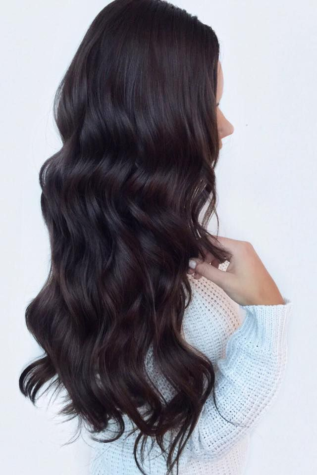 Glam Waves on the lovely @liliyakay who is wearing her Dark Brown Luxy Hair Extensions to add volume and length to this look. #LuxyHairExtensions