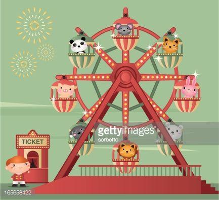 Vector Art : Ferris Wheel