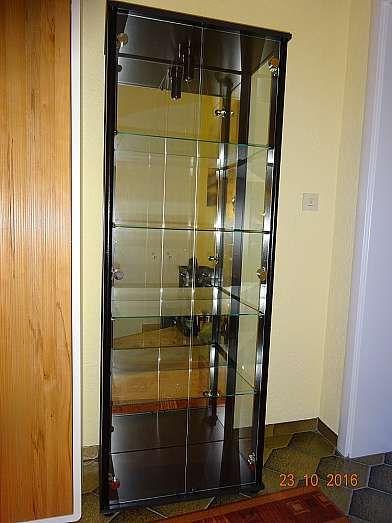 Sammlervitrine schwarz, 4 Glasböden