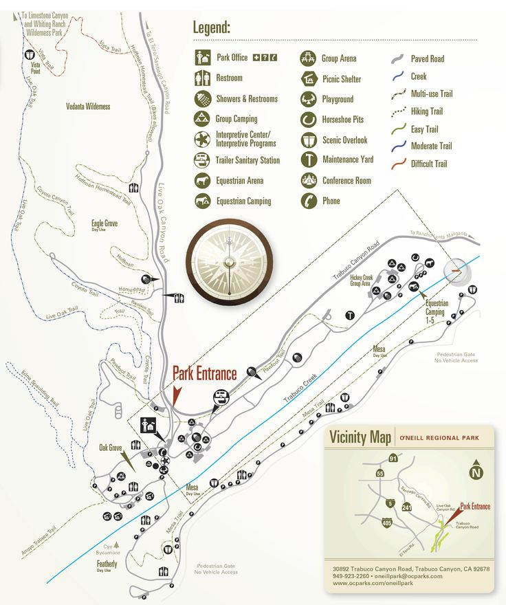 O Neill Regional Park Trail Map Google Search Health