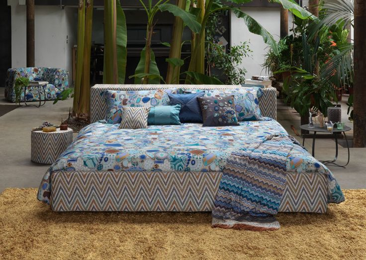 Tropical luxury bungalow.... MORFEO bed and bed linen by MissoniHome. #missonihome
