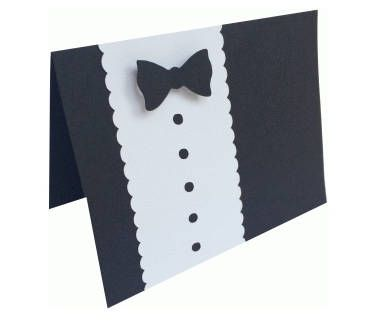 #Tuxedo #Card , Blank inside , #Event , #Wedding , #Graduation , #Dance , #Dinner , #Party , #Formal , #Bowtie , #Black , #White , Free Confetti by PatchyPeanut on Etsy #Etsy