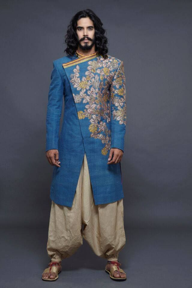 Totally michael - kurta dhoti, funky blue