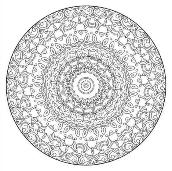 intricate geometric coloring pages - photo#16