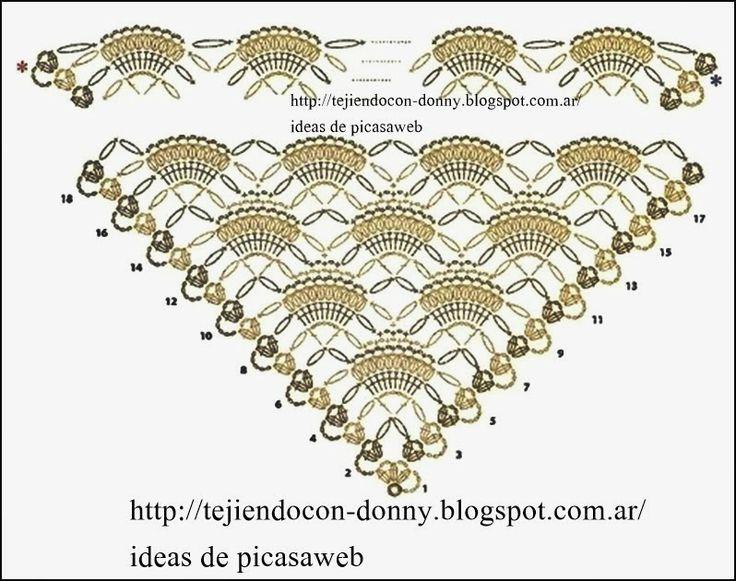 234 best Шарфы, шали, палантины, снуды images on Pinterest   Crochet ...
