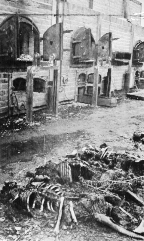 The crematorium at Majdanek concentration camp, Lublin, Nazi-occupied Poland, 1944. The liberation of Lublin in Poland by the Soviet Red Army in July 1944 also revealed a huge concentration camp .