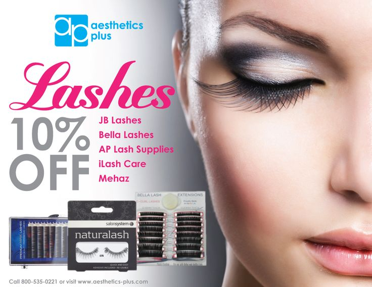 Make sure you get 10% off your favorite lashes! Valid only for the month of November. To order call 800-535-0221 or visit www.aesthetics-plus.com