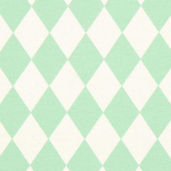 Kanvas Pastell Rutor – mintgrön