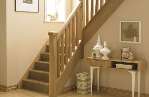 Oak Stop Chamfer Stair Bundle 1 Oak Stair Parts Modern Oak Contemporary #Stairs Handrails Oak #Spindles Newel Posts CAPS [Oak Bundle 1] - £485.00 : Shaw Stairs Ltd