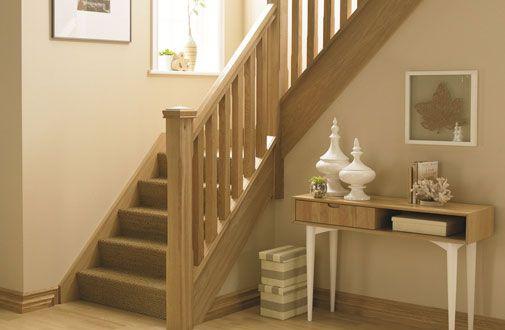 Oak Stop Chamfer Stair Bundle 1 Oak Stair Parts Modern Oak Contemporary #Stairs Handrails Oak #Spindles Newel Posts CAPS [Oak Bundle 1] - £485.00 : Shaw Stairs Ltd