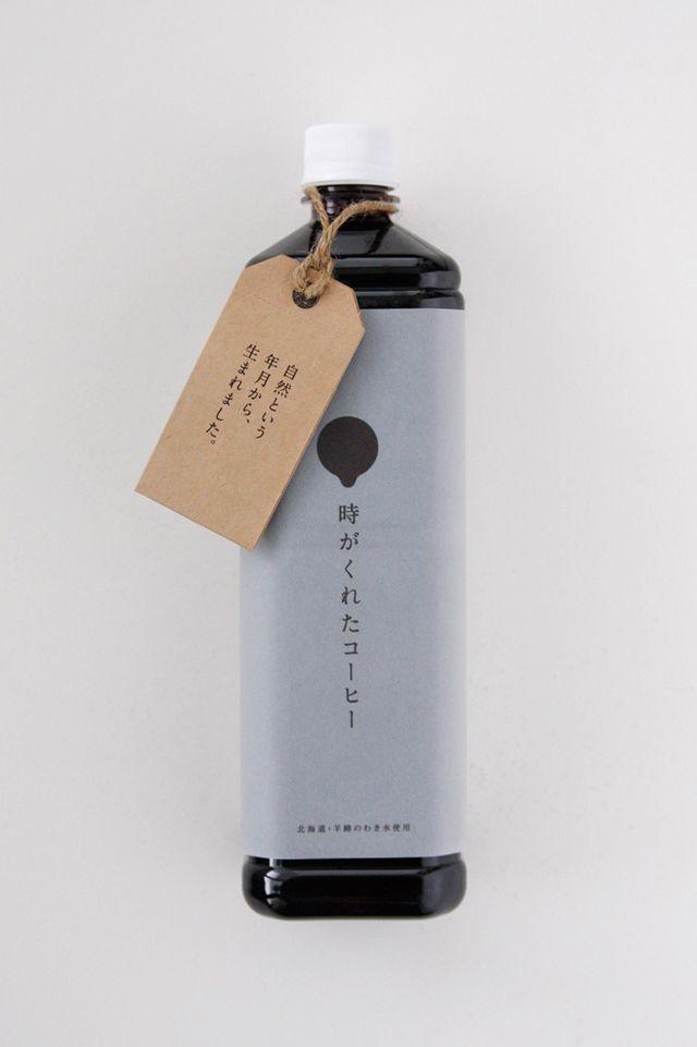 """toki ga kureta coffee""-the liquid coffee made from aged beans and natural water of Hokkaido — Package"