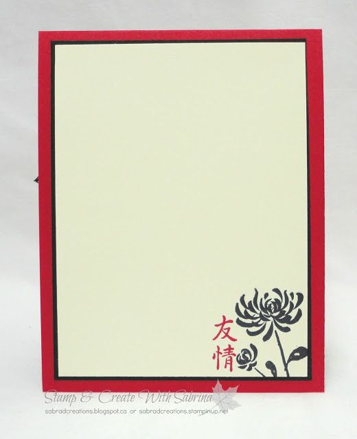 Stamp & Create With Sabrina: Artistically Asian Card & Gift Box - Real Red, Black & Gold