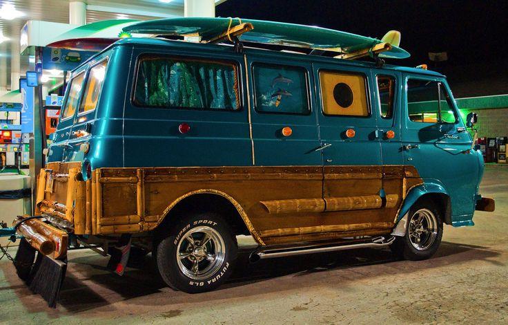 Custom surf van custom vans van cool vans