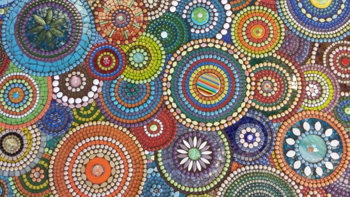 Mosaiksteine in der Gartengestaltung- Bastelideen und Anleitungen