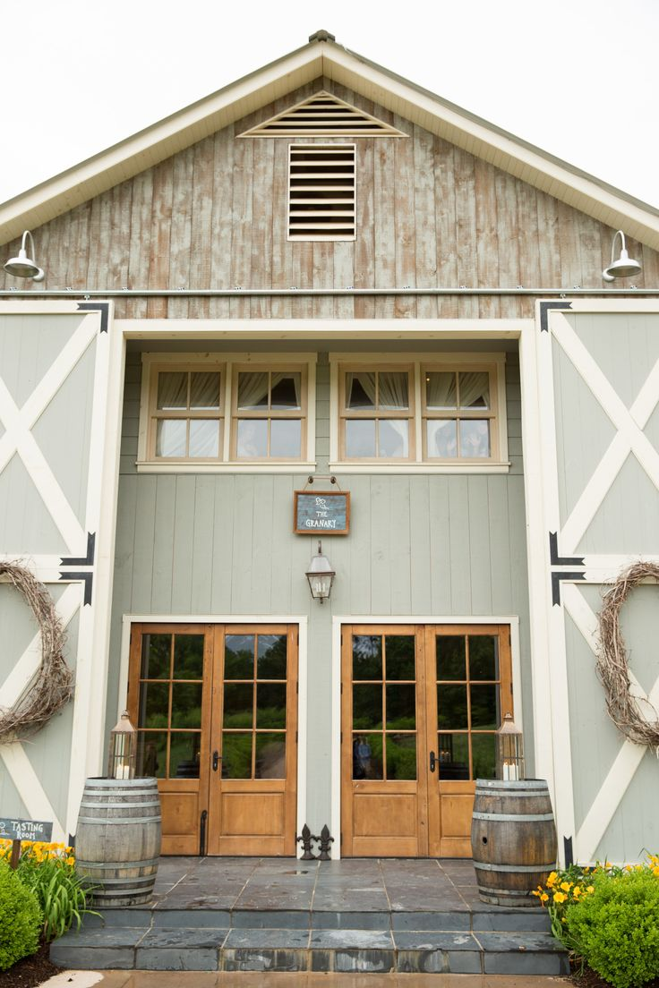 Modern exterior barn doors - Deployed Groom Comes Home To Beautiful Farm Wedding