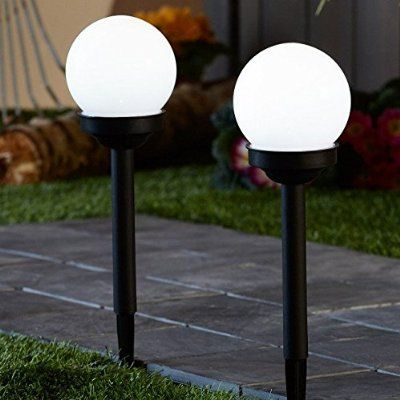 Sogrand 4 LED Solar Globe Stake Light Set, 2-Pack. $24 Prime