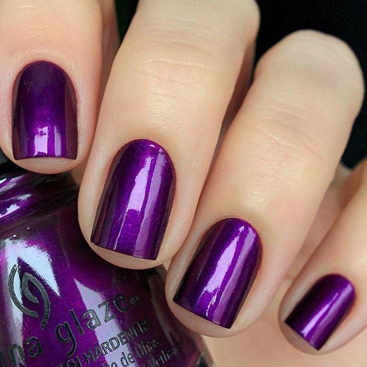 China Glaze Purple Fiction   – Fingertips Painted