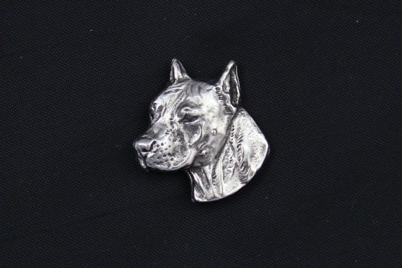 American Staffordshire Terrier cropped dog pin by ArtDogshopcenter