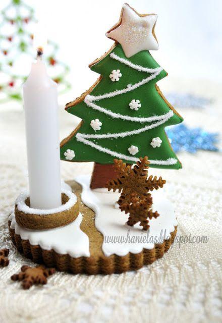 wholekitchen: Centros de mesa con galletas de jengibre. Inspiración