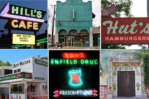 Here are some great places to eat in Austin! Drop off your laundry and do some sightseeing in your own city. Sixteen Historic Austin Restaurants, Mapped