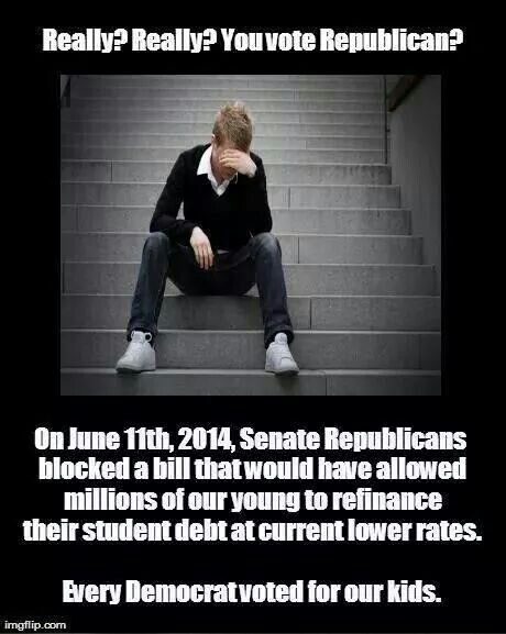 pp  If only students were corporations than republicans would not only cut their loan rate but give them a subsidy and an offshore tax break.