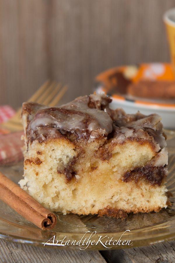 Cinnamon Roll Swirl Cake - quick and easy to make,  tastes just like cinnamon buns!