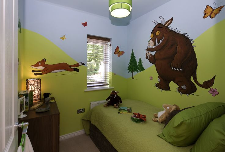 The popular Gruffalo book has been used for as the design for a children's room in our show home at Leybourne Chase in West Malling.