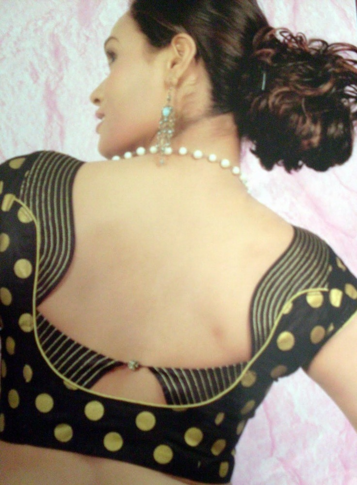 Saree Blouse Neck Design | design patterns of blouses back design | designerchuridhar.com