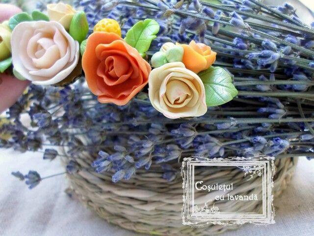 Polymer clay handmade roses