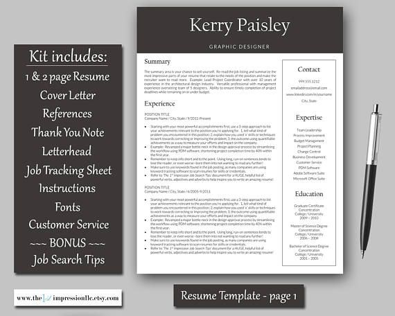 10 Best Resume Template Kits \/ CV Templates Images On Pinterest   Go Resume  Go Resume