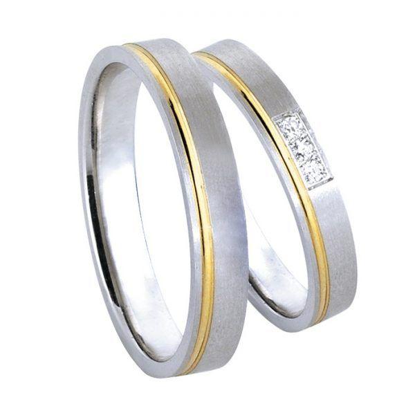 Βέρες γάμου Deca  gold δίχρωμο χρυσό Κ14