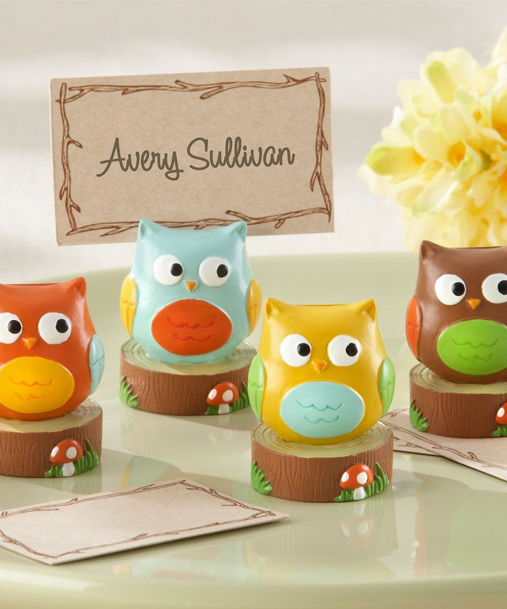 Whooos the Cutest Owl Place Card Holder Set