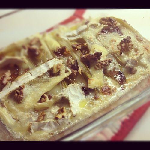 Witlofschotel met camembert