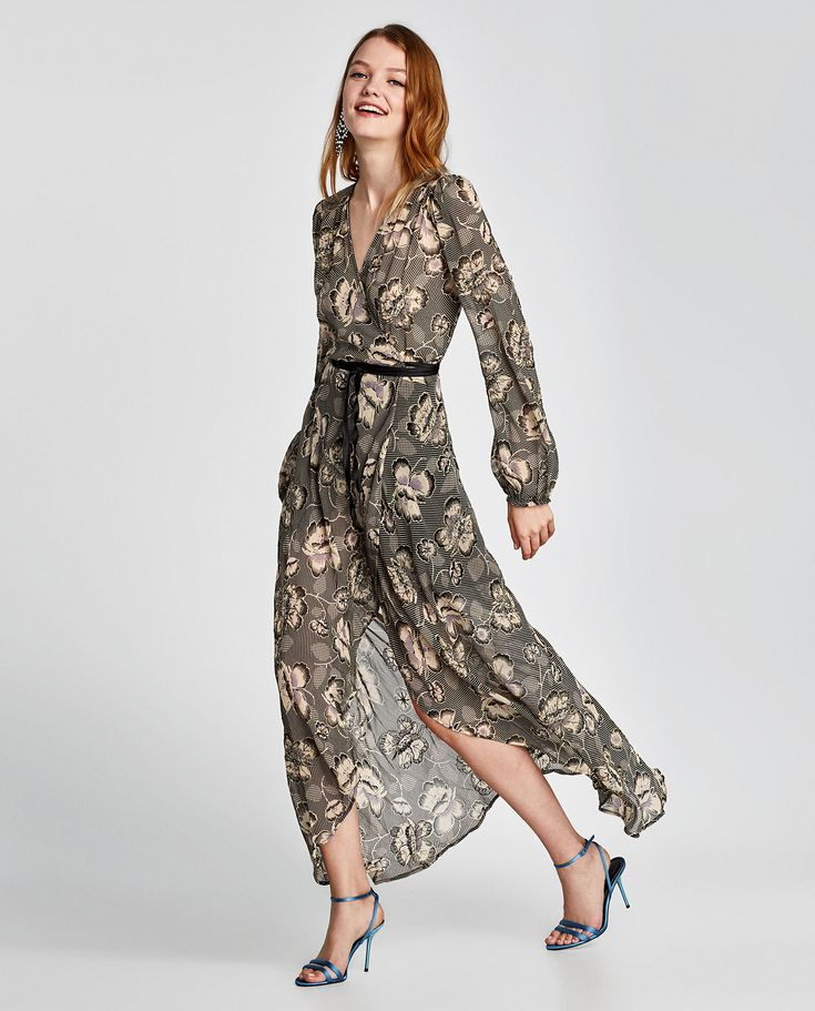 ZARA - WOMAN - PRINTED DRESS WITH EMBROIDERY