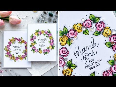 (2) Stamp Reveal: Bold Blooms by Pretty Pink Posh - YouTube