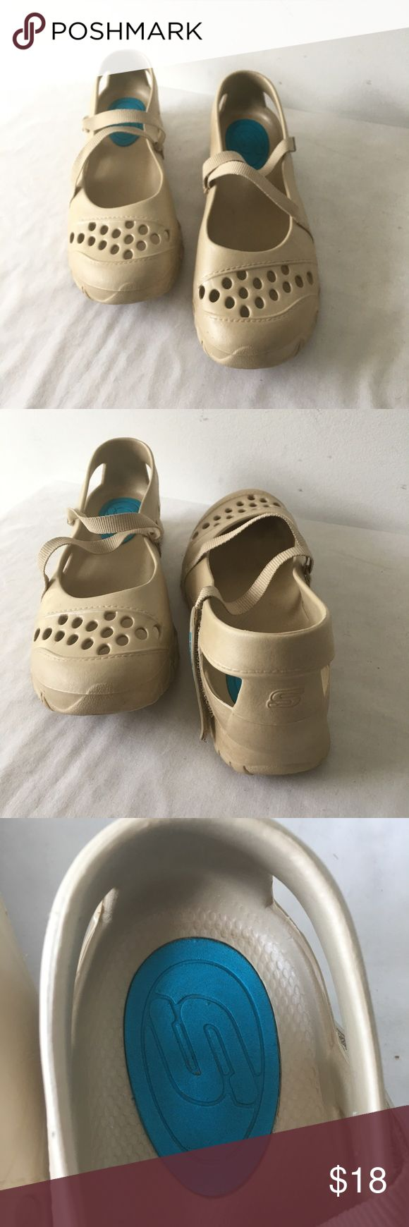 Skechers Mary Jane Good preowned condition A few scuffs and stains. Metallic Tan Skechers Shoes Flats & Loafers