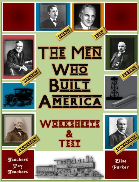 "Easy-to-correct worksheets designed to go with every episode of ""The Men Who Built America,"" plus a final Men Who Built America Test covering the key points of the entire series! That's four Men Who Built America worksheets in addition to the final exam. Engage your students in the American Industrial Revolution like never before!"