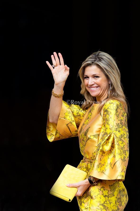 """""""Arrival Queen Máxima at Palace Noordeinde for Appeltje van Oranje 2015"""