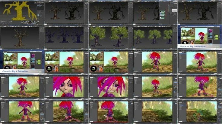 Making of Giana Sisters in 3ds Max, 3D Studio Max, Autodesk Mudbox, Game, Making of, Modeling, Sculpt, Texturing, Giana Sisters, Making of, ...