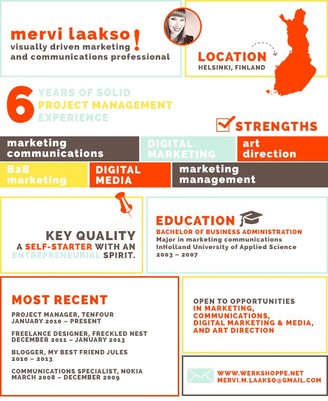Best Visual Resume Images On   Infographic Resume