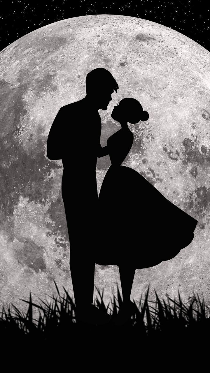 720x1280 Moon Love Couple Dark Art Wallpaper Love Couple Wallpaper Cute Love Wallpapers Pictures Of Love Couple