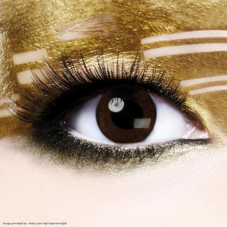 Gold #Eyes#MakeUp#Metalic