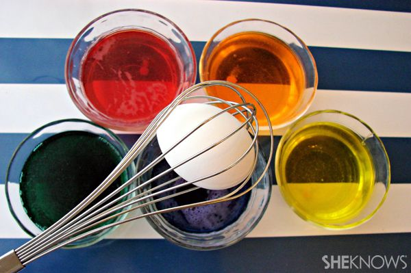 Easter egg dyeing trick - use a whisk. Too clever!