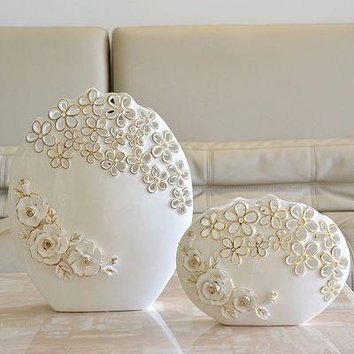 Европейский керамическая ваза белых ручной росписью вазы пномпень современные фарфоровые телевизора корпусной мебели(China (Mainland))